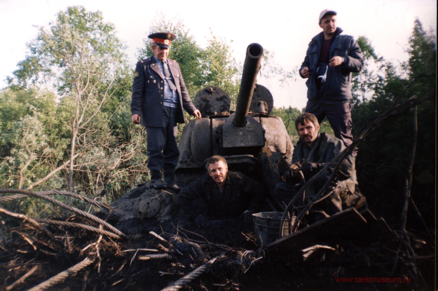 """подъем танка Т-34 """"Снайпер"""" музей"""