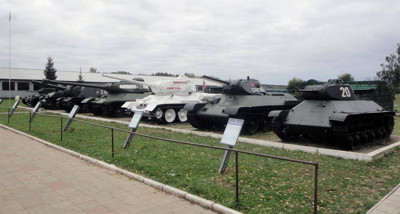 танки Второй Мировой войны в наружной экспозиции