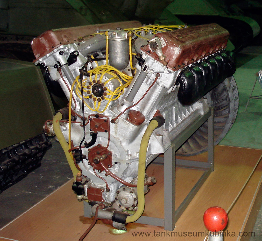 WWII Soviet tank V-2 engine