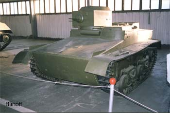 Pre-WWII Soviet light tank-amphibious T-37A (Carden -Loyed Vickers style, Ford-AA engine)