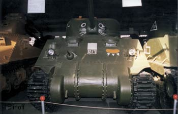 "World War two American middle tank M4A4 ""Sherman"" M1944"