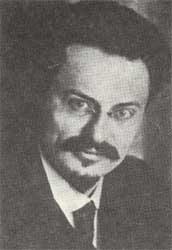 Leo Trotsky and Soviet tanks
