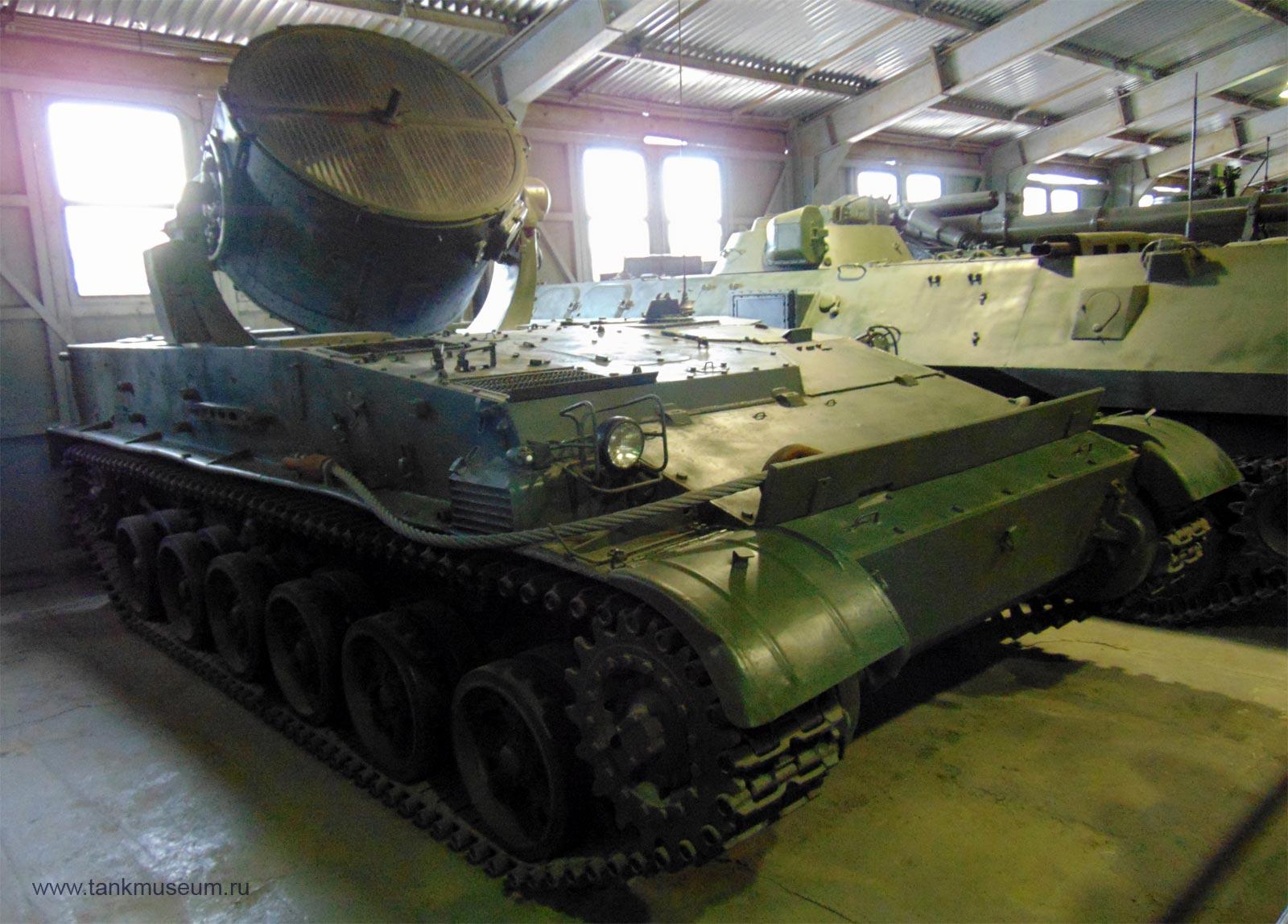 Самоходная прожекторная установка СПУ, танковый музей Кубинка