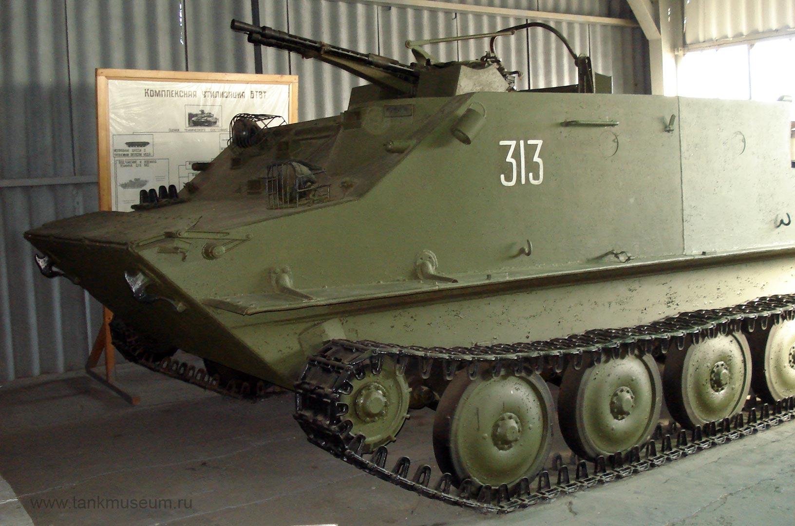 Зенитная самоходная установка ЗПТУ-2 на БТР-50П (Объект 750), танковый музей в Кубинке