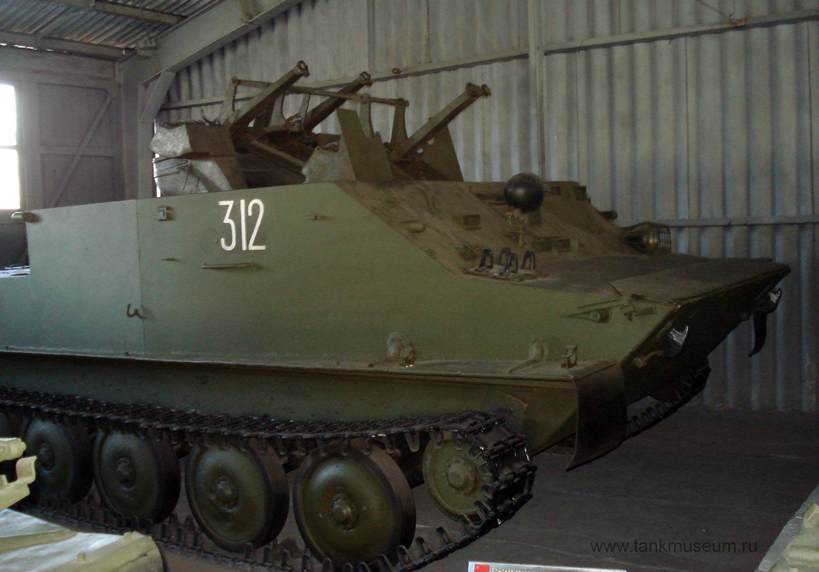 Зенитная самоходная установка ЗПТУ-4 на БТР-50П танковый музей в Кубинке
