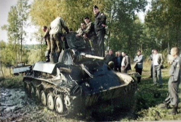 подъем танка Т-70