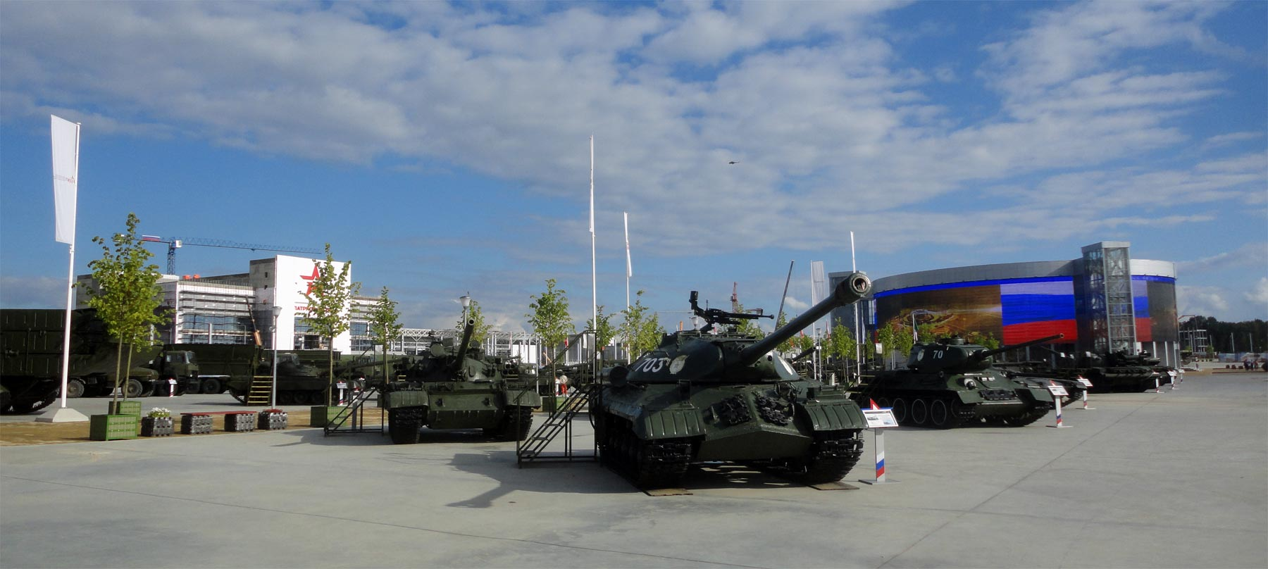 Patriot park, armored vehicles outdoor exhibition